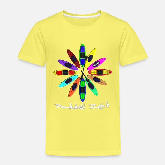 Kayak T-Shirts - Clock Kayak 0004 - Kinder Premium T-Shirt Gelb