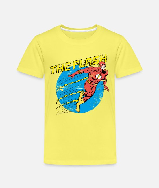 Justice T-Shirts - DC Comics Justice League The Flash - Kinder Premium T-Shirt Gelb