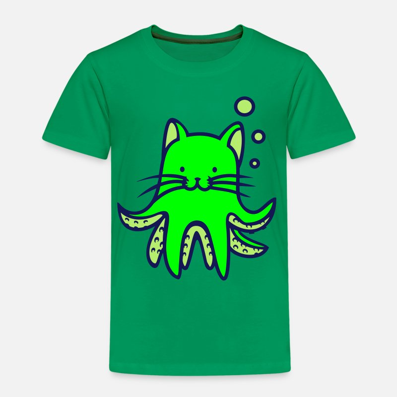 Pun T-Shirts - octopuss pun - Kids' Premium T-Shirt kelly green