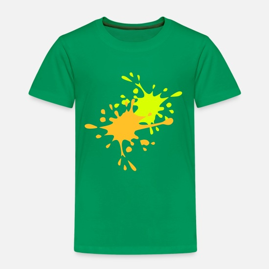 Farbe T-Shirts - Paintball - Kinder Premium T-Shirt Kelly Green