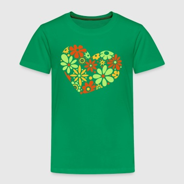 Great flowerpower heart, colorful - Kids' Premium T-Shirt