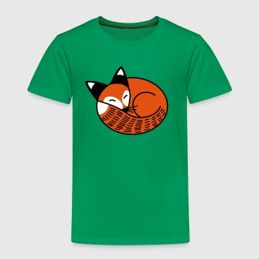 Sleepy Fox - Kids' Premium T-Shirt