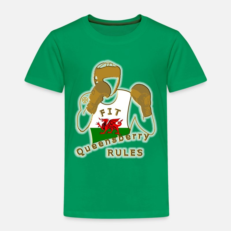 Welsh T-Shirts - welsh red dragon graphic uk - Kids' Premium T-Shirt kelly green