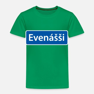 Even Evenášši (Evenes) skilt - Premium T-skjorte for barn