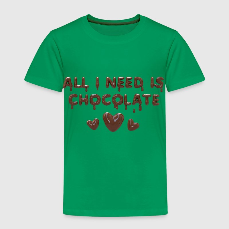 All I need is chocolate - T-shirt Premium Enfant