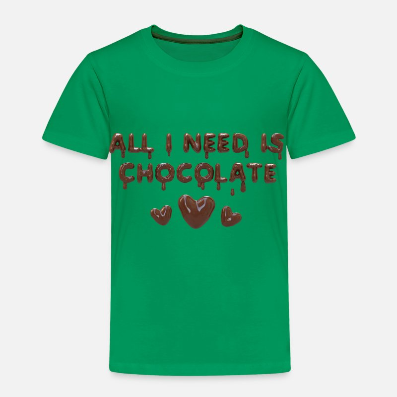 Aperitivos Camisetas - All I need is chocolate - Camiseta premium niño verde