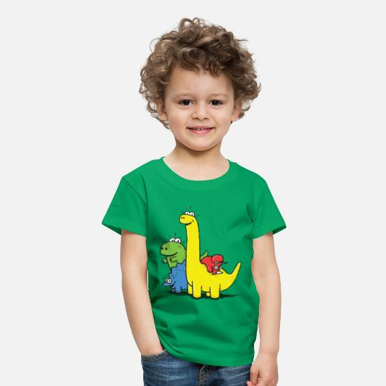 First T-Shirts - Dino Gang, Colored - Kids' Premium T-Shirt kelly green