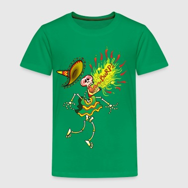 Mexican Skeleton Burping Hot Chili Peppers - Kids' Premium T-Shirt
