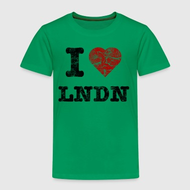 I Love LoNDoN vintage dark - Børne premium T-shirt
