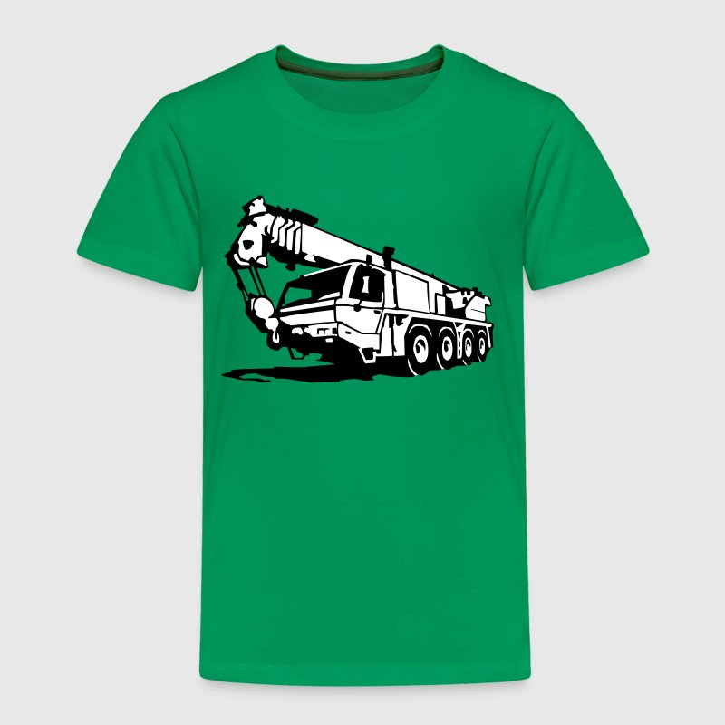 Autokran, crane (2 color) - Kinder Premium T-Shirt