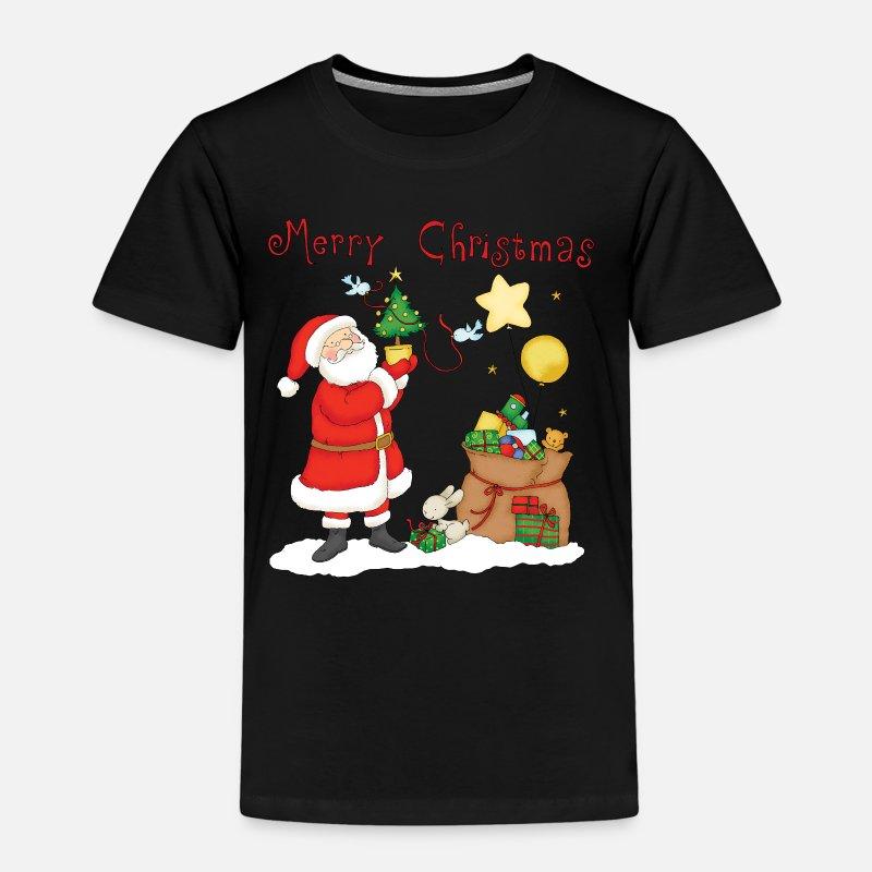 d69ac351b Papá Noel con el saco de regalos de la Navidad Camiseta premium niño |  Spreadshirt