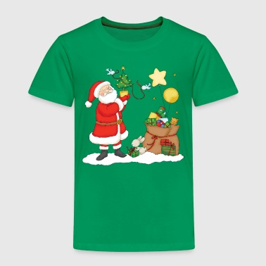 Santa Claus with bag of Christmas Gifts. - Kinder Premium T-Shirt