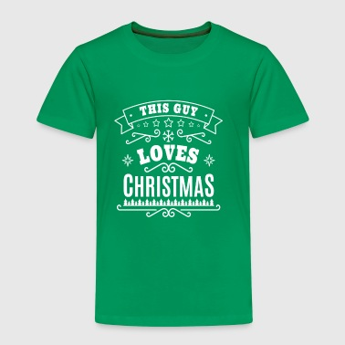 This Guy Loves Christmas - typographic xmas gift - Premium T-skjorte for barn