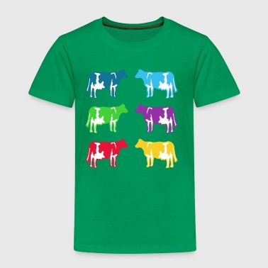 cow cows coloured - Kids' Premium T-Shirt