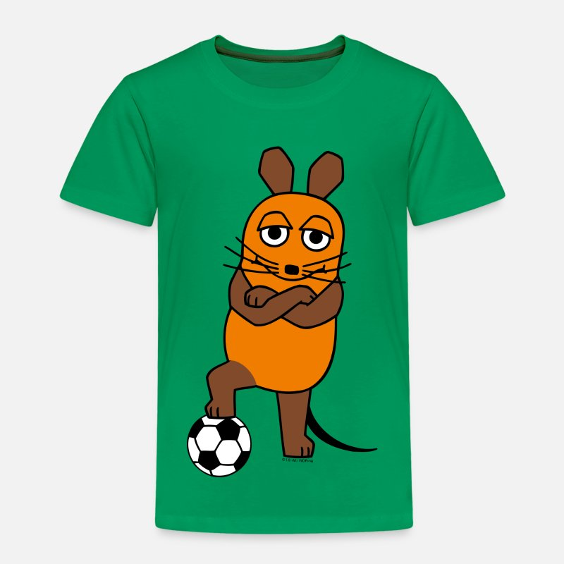 Mit T-Shirts - Kindershirt - Maus Fussball - Kinder Premium T-Shirt Kelly Green