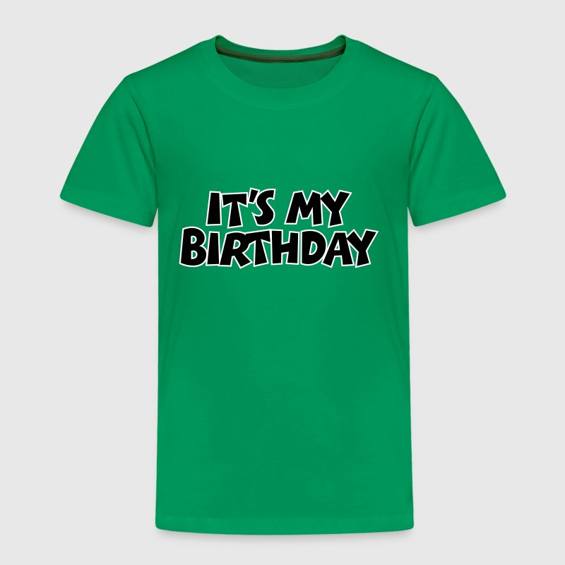 It's my Birthday Geburtstag Design Outline - Kinder Premium T-Shirt