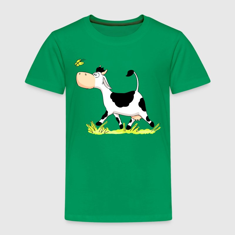 Cow chasing Butterfly - Kids' Premium T-Shirt