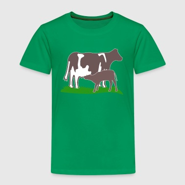 cow and calf brown - Kids' Premium T-Shirt
