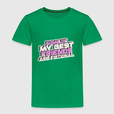 some of my best friends are fictional Vision Wahn - Kinder Premium T-Shirt