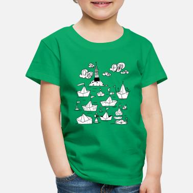 Black And White Collection Port t-shirt  - T-shirt Premium Enfant