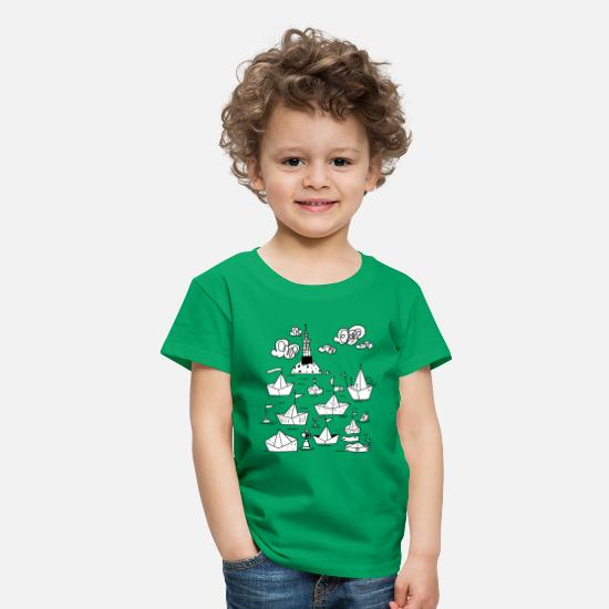 Collection T-shirts - Port t-shirt  - T-shirt premium Enfant vert