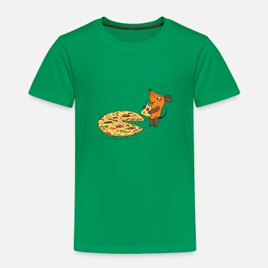 Maus isst Pizza - Kinder Premium T-Shirt