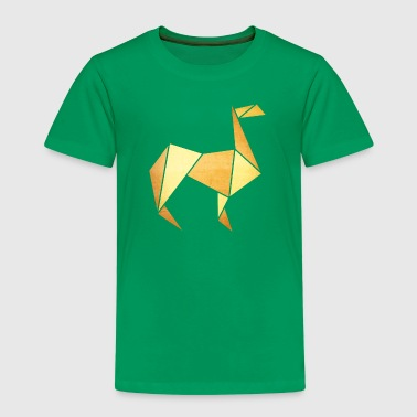 Origami: Lama (Pergament-Optik) - Kinderen Premium T-shirt