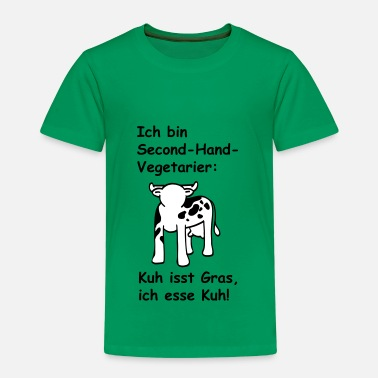 Second Ich bin Second-Hand-Vegetarier - Kinder Premium T-Shirt