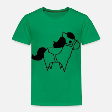 Låg Poly Pony Low Polygon Pony Low Poly Horse Sweet - Premium-T-shirt barn