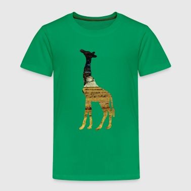 Giraffe in the steppe - Kids' Premium T-Shirt