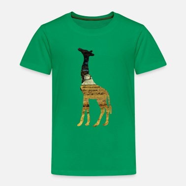 Steppe Giraffe in the steppe - Kids' Premium T-Shirt