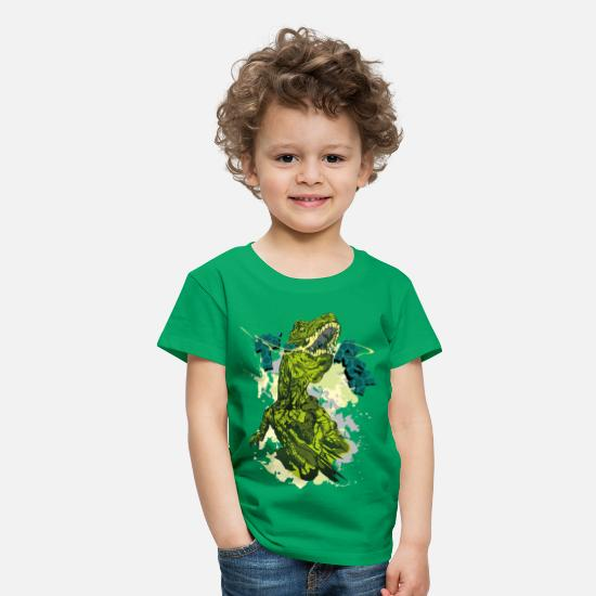 Dinosaur T-Shirts - Animal Planet T-Rex - Kids' Premium T-Shirt kelly green