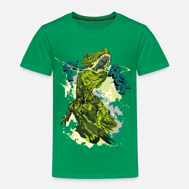 Animal Planet T-Shirts - Animal Planet T-Rex - Kids' Premium T-Shirt kelly green