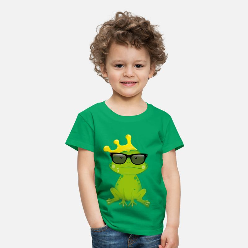Collection For Kids T-shirts - Nerd Frog - Premium T-shirt barn kellygrön