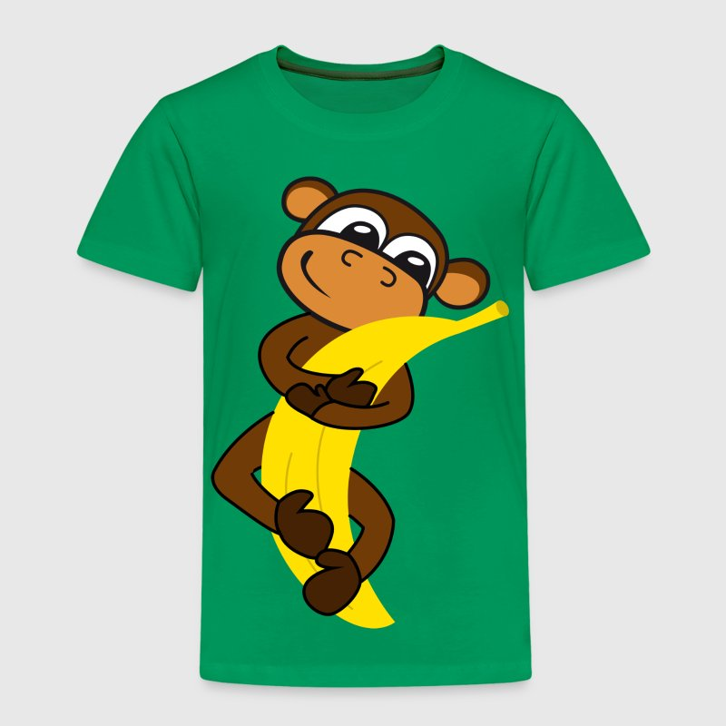 Monkey with banana - Kids' Premium T-Shirt