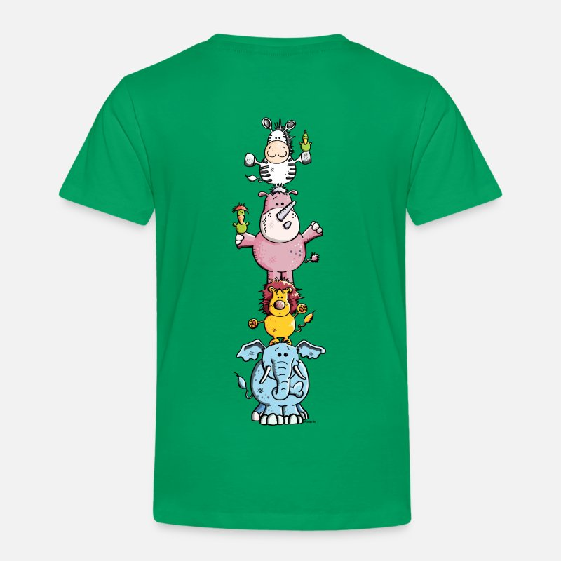 Bestsellers Q4 2018 T-Shirts - Funny Animal Circus - Zoo - Kids' Premium T-Shirt kelly green