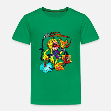 Monster Party Monster Cartoon - Kinder Premium T-Shirt