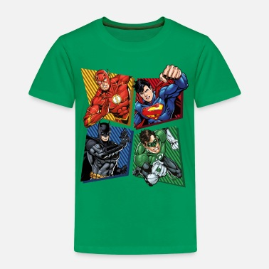 Comics DC Comics Justice League Superheroes Group - Kinderen premium T-shirt