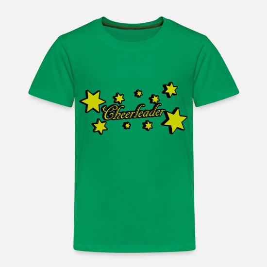 Gift Idea T-Shirts - Cheerleader Star Black Yellow Gift Idea - Kids' Premium T-Shirt kelly green