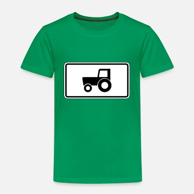 Traffic Road sign tractor - Kids' Premium T-Shirt