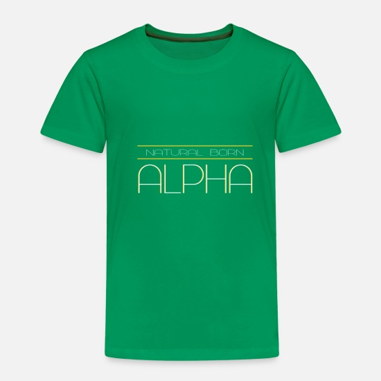 Poison T-shirts - Alpha naturel - T-shirt premium Enfant vert