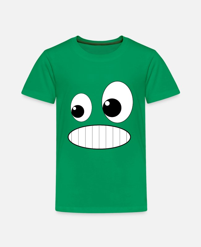 Grin T-Shirts - Grinning face grin - Kids' Premium T-Shirt kelly green