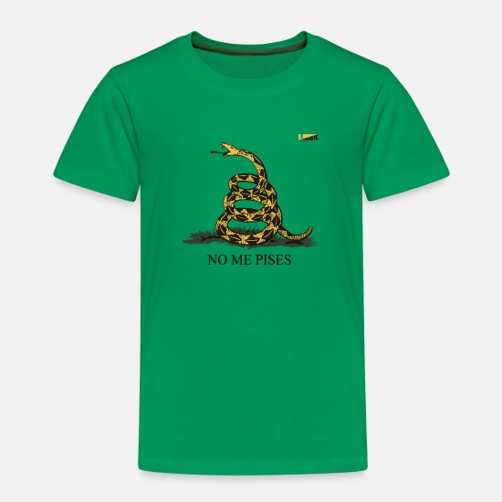 Liberalism T-Shirts - Gadsden flag yellow black en - Kids' Premium T-Shirt kelly green