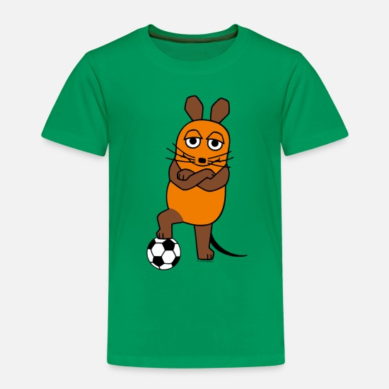 Maus T-Shirts - Teenagershirt - Maus Fussball - Kinder Premium T-Shirt Kelly Green