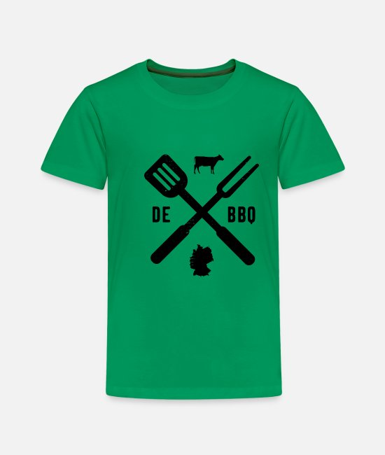 Bbq T-Shirts - BBQ Barbecue Grill Barbecue season Germany - Kids' Premium T-Shirt kelly green