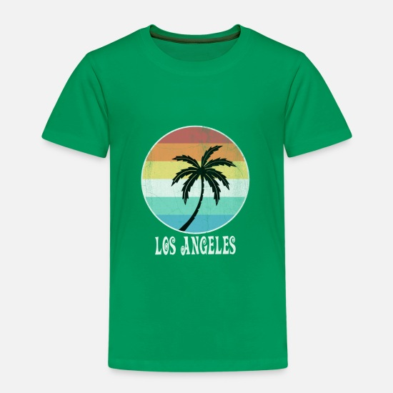 Meer T-Shirts - Los Angeles - Kinder Premium T-Shirt Kelly Green