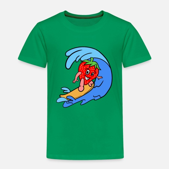 Sports T-Shirts - Sporty Strawberry - Kids' Premium T-Shirt kelly green