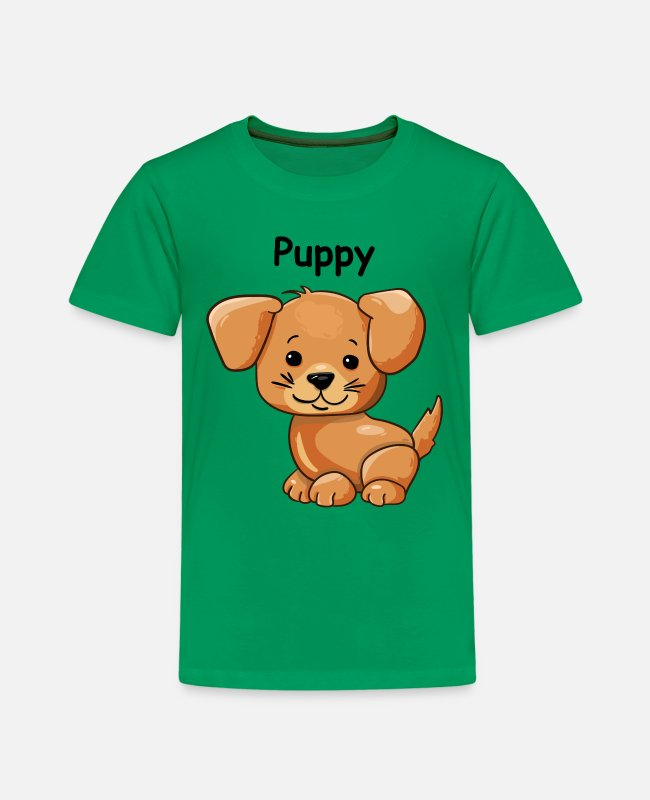 Lieben T-Shirts - Welpe - Kinder Premium T-Shirt Kelly Green