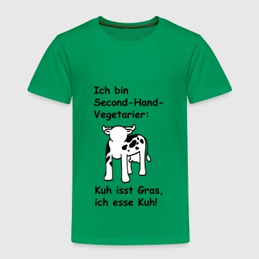 Ich bin Second-Hand-Vegetarier - Kinder Premium T-Shirt