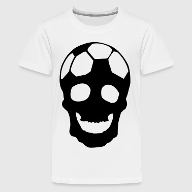 Fussball Totenkopf - Teenager Premium T-Shirt